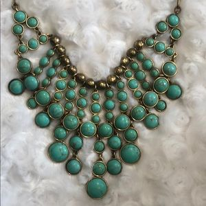 Beautiful Lucky brand turquoise necklace 19inch.